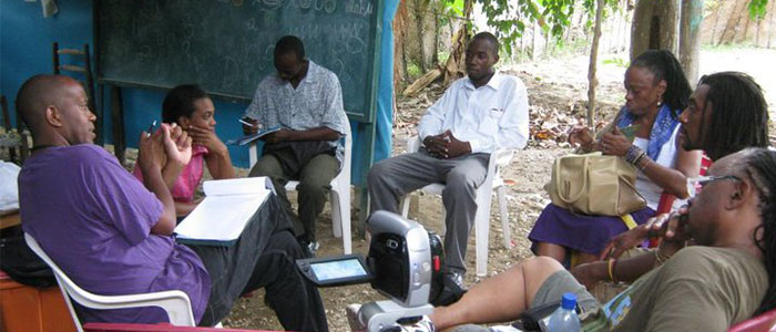 MOI project team in Haiti after the 2010 earthquake