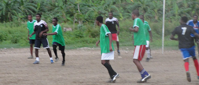 Sakaj, a youth soccer team in Haiti supported by HACBED, Inc.